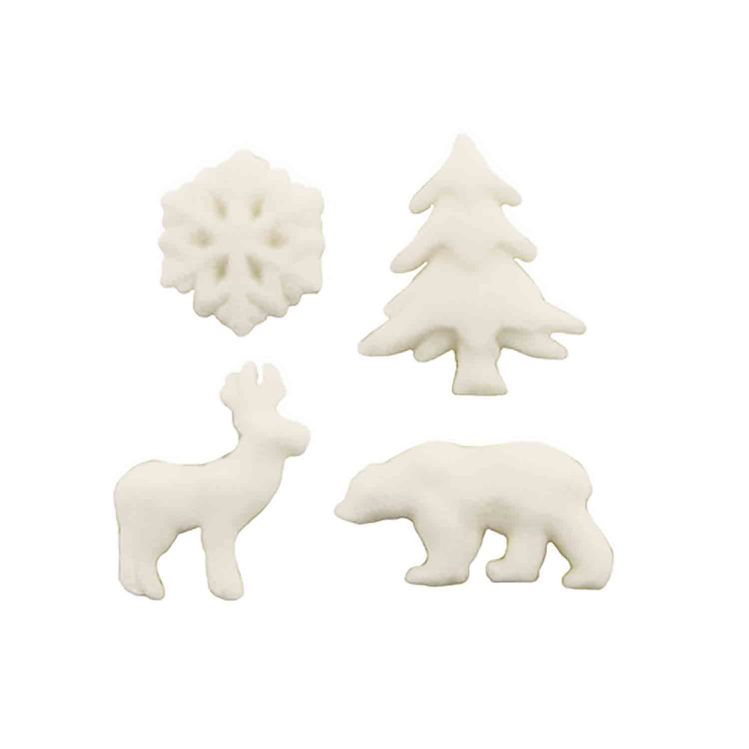 Dec-Ons® Molded Sugar - Artic Animal Assortment