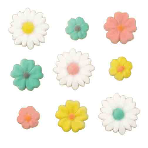 Dec-Ons® Molded Sugar - Spring Flower Assortment