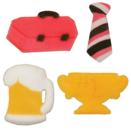 Dec-Ons® Molded Sugar - Dad Assortment