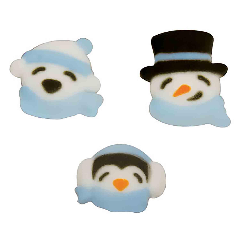 Dec-Ons® Molded Sugar - Cozy Winter Friends