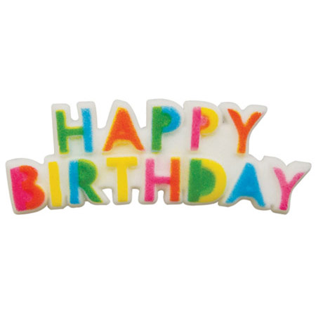 Dec-Ons® Molded Sugar - Birthday Plaque