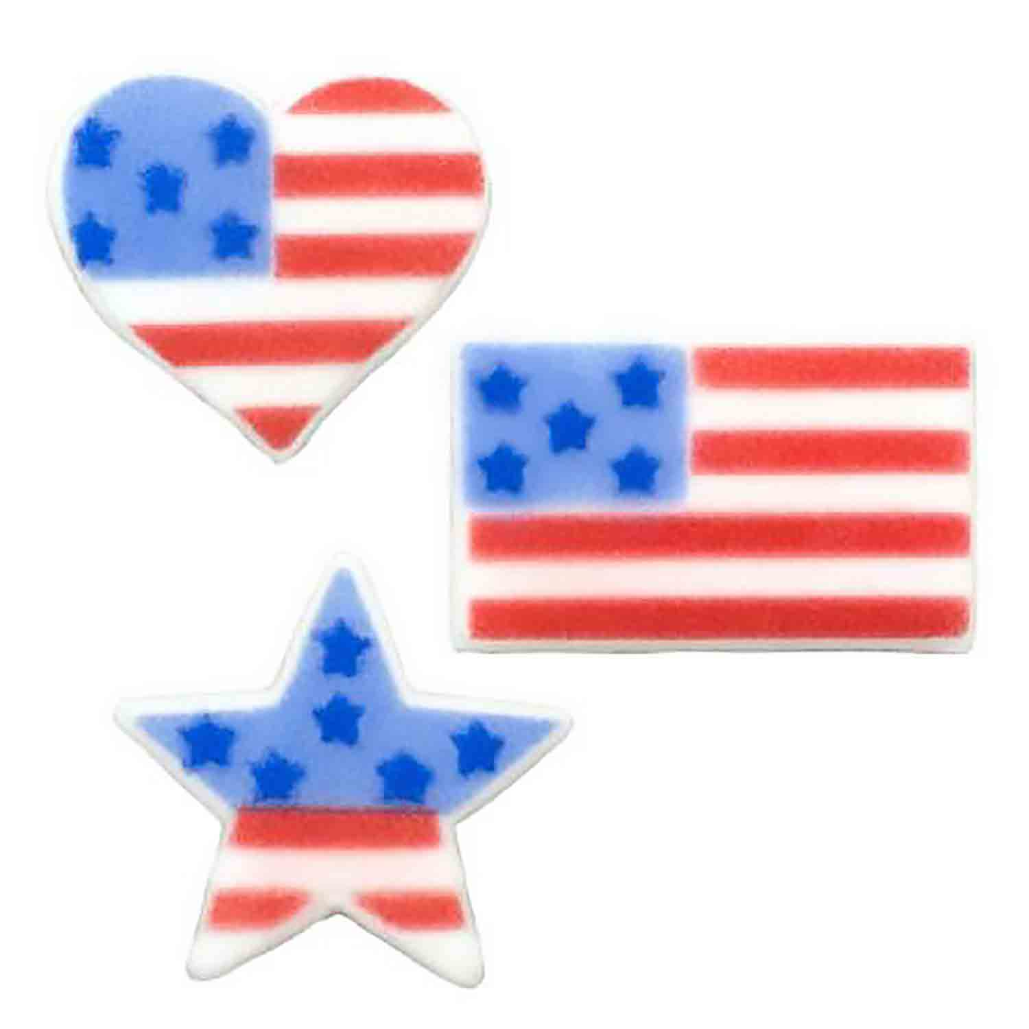 Dec-Ons® Molded Sugar - American Flag Assortment