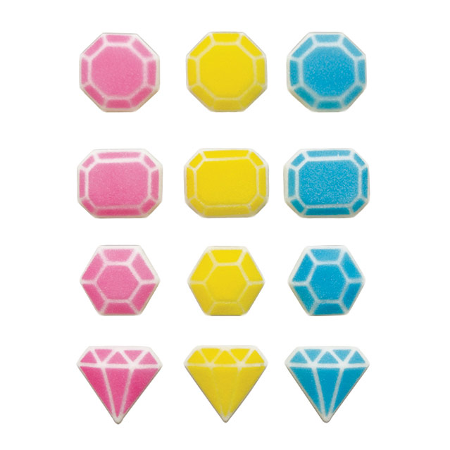 Dec-Ons® Molded Sugar - Fabulous Gem Assortment
