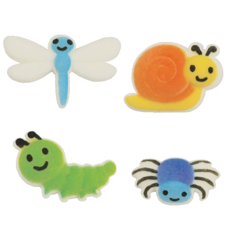 Dec-Ons® Molded Sugar - Cute Bug Assortment
