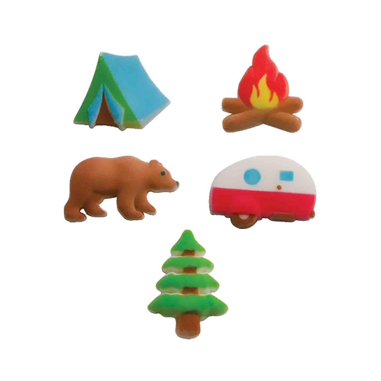 Dec-Ons® Molded Sugar - Happy Camper