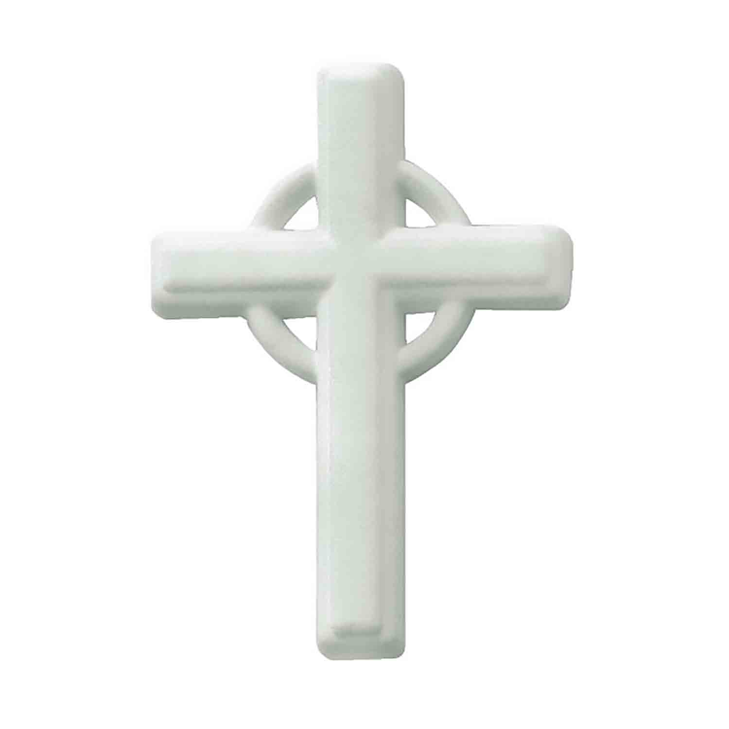 Dec-Ons® Molded Sugar - Large White Cross