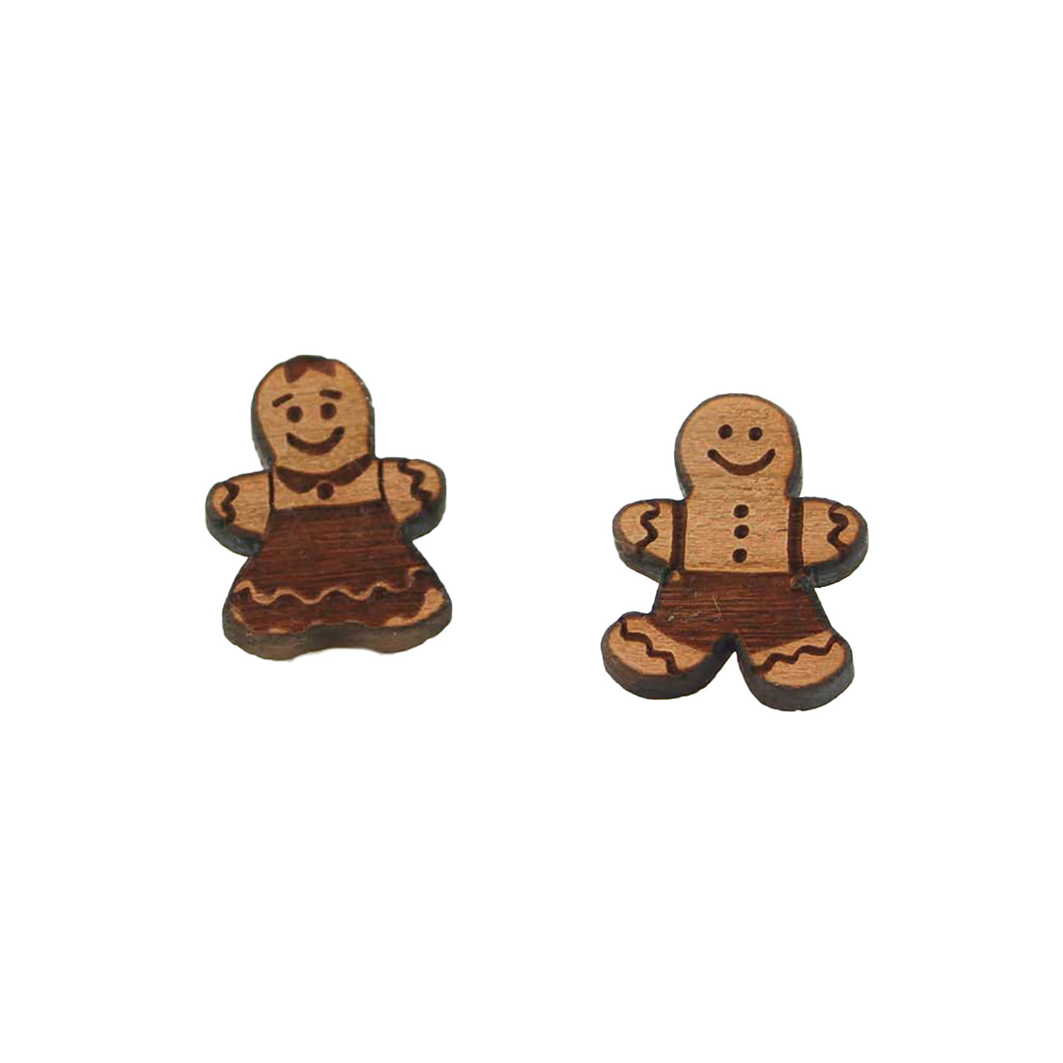 Gingerbread Couple Earrings
