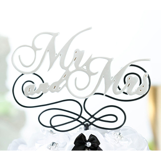 Mr. And Mrs. Wedding Cake Topper Pick