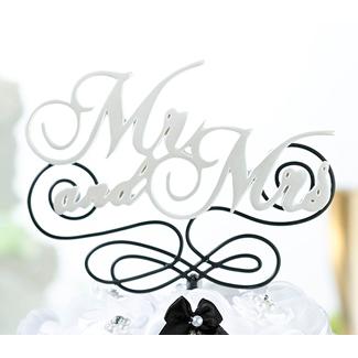 Mr. And Mrs. Wedding Cake Topper Pick