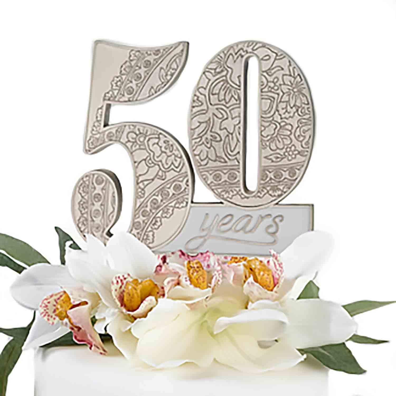 50th Anniversary Cake Topper Pick