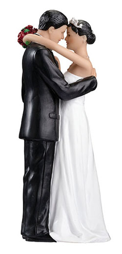 Cake Topper- Tender Moment Couple- Hispanic