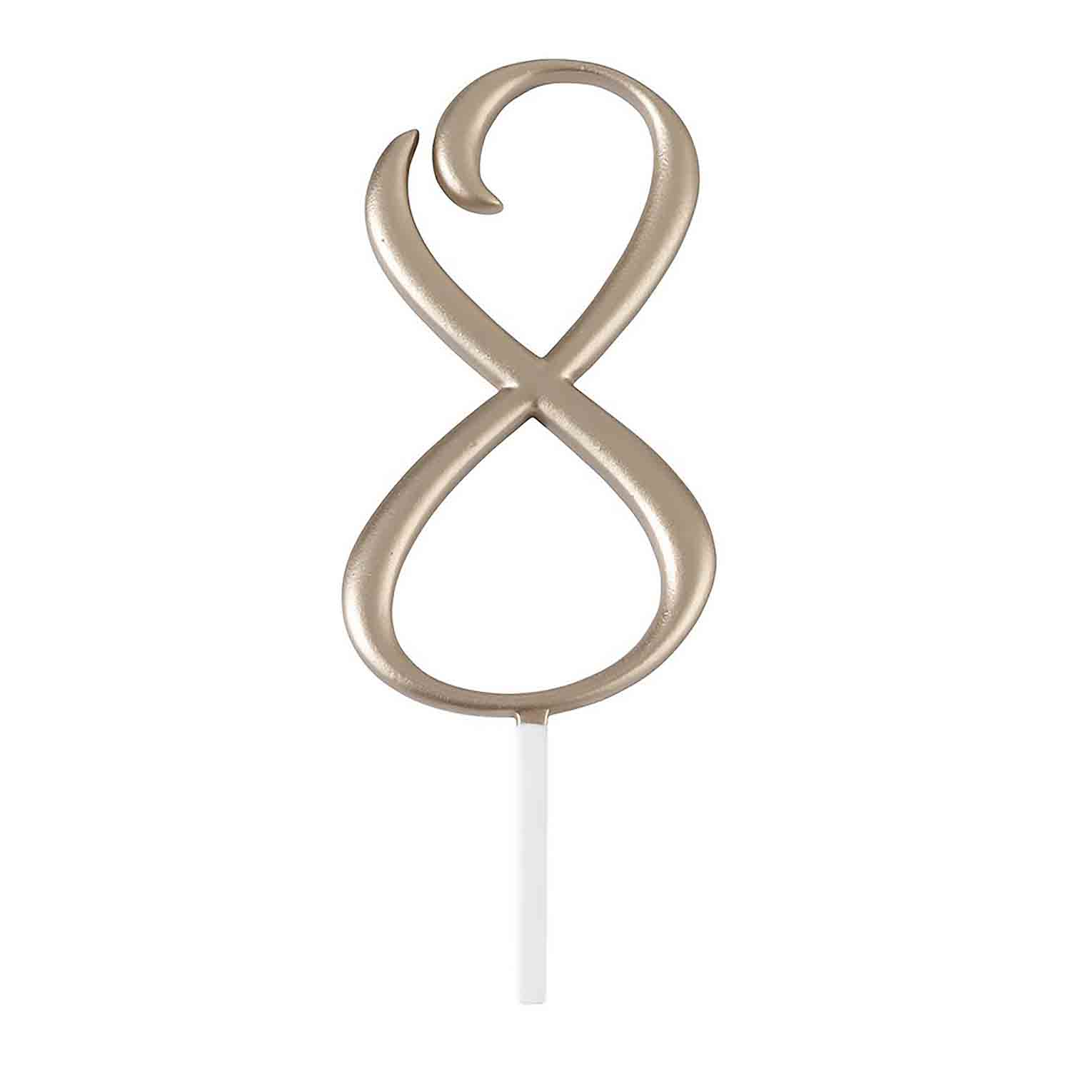 "Gold Monogram Number ""8"" Cake Topper"