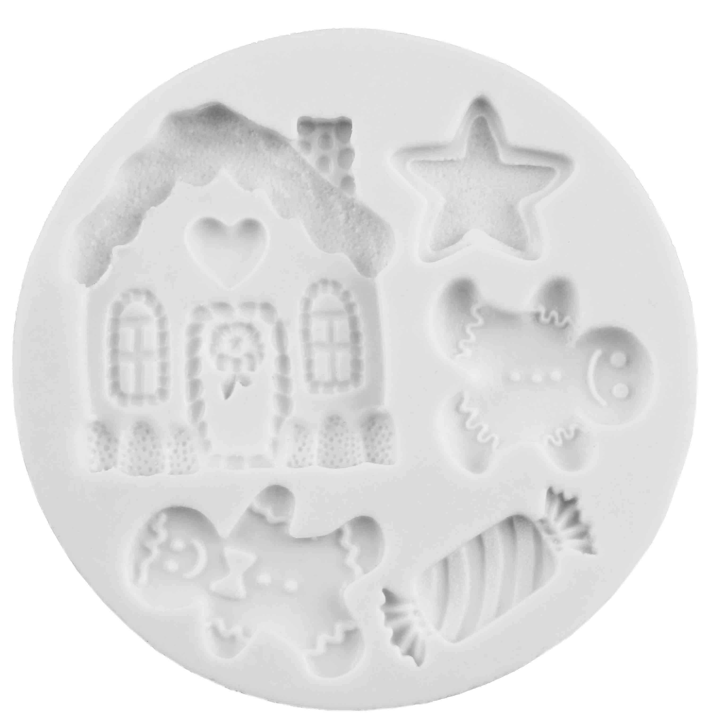 Christmas Gingerbread Cookies Silicone Mold