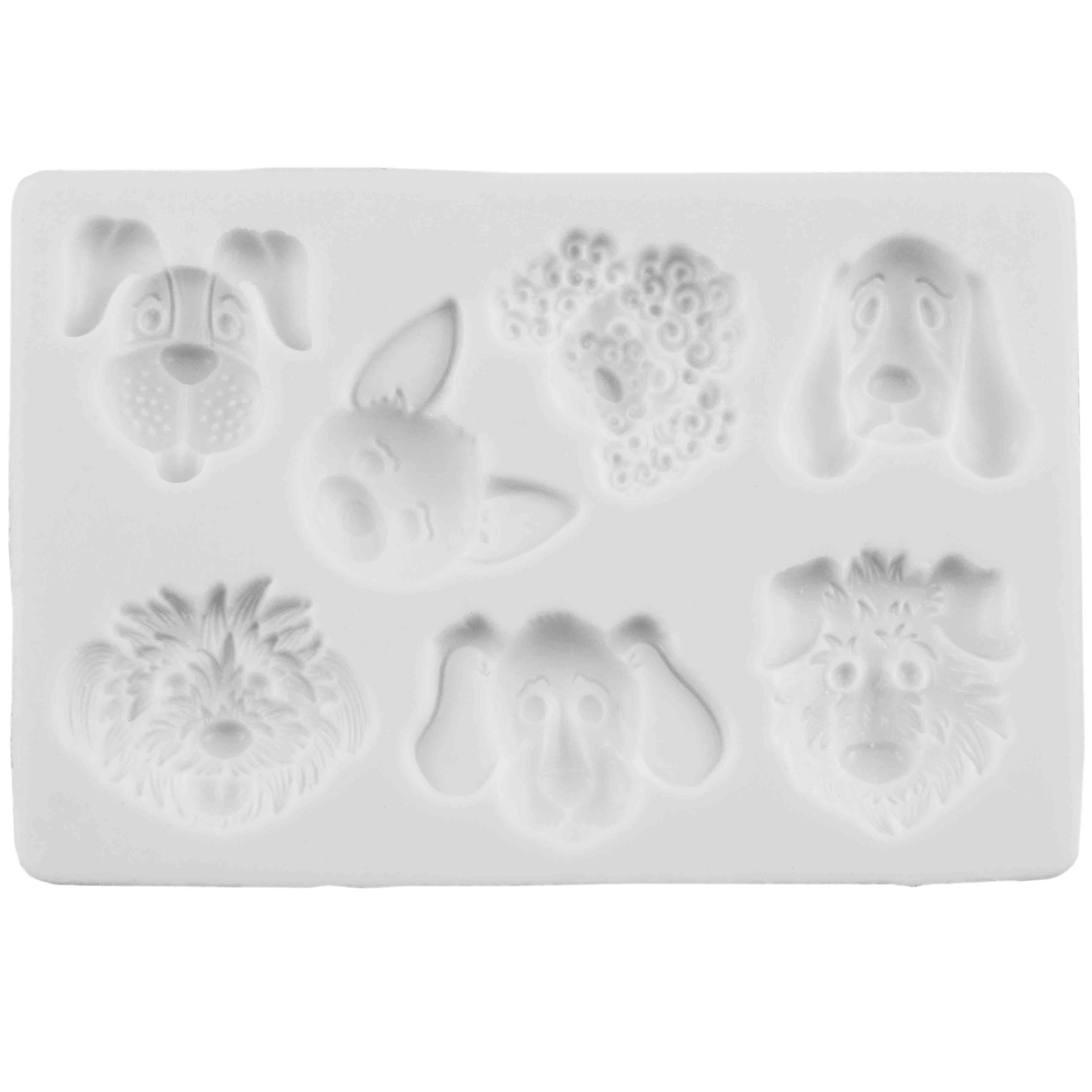 Dog Heads Silicone Mold