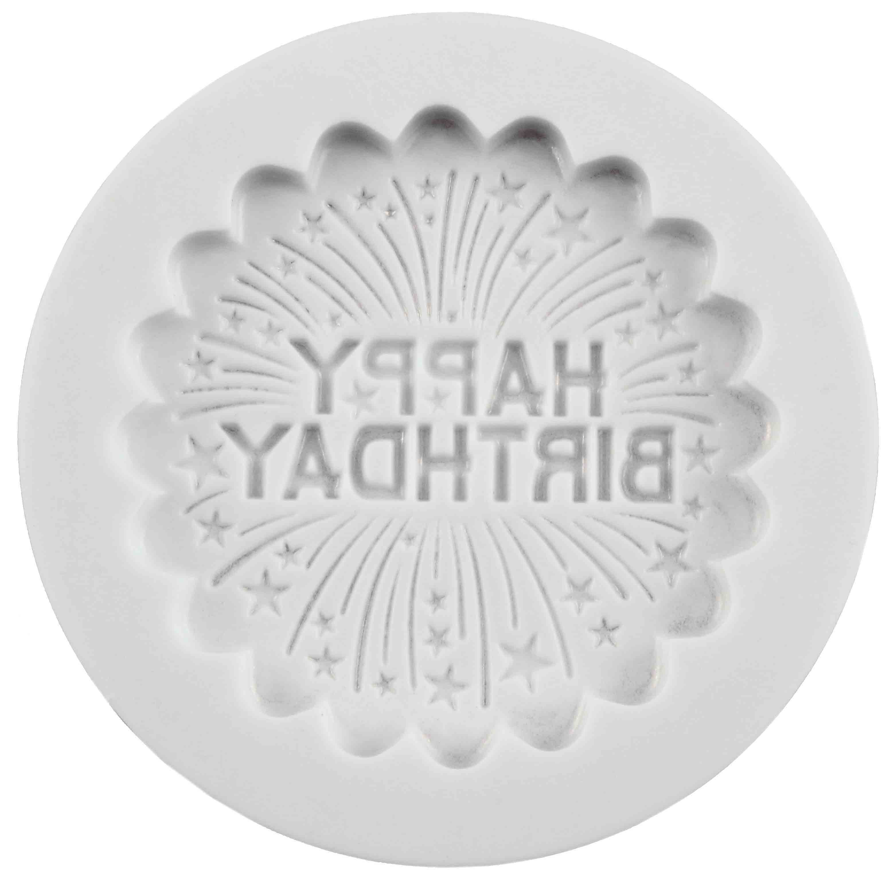 Happy Birthday Silicone Cupcake Mold