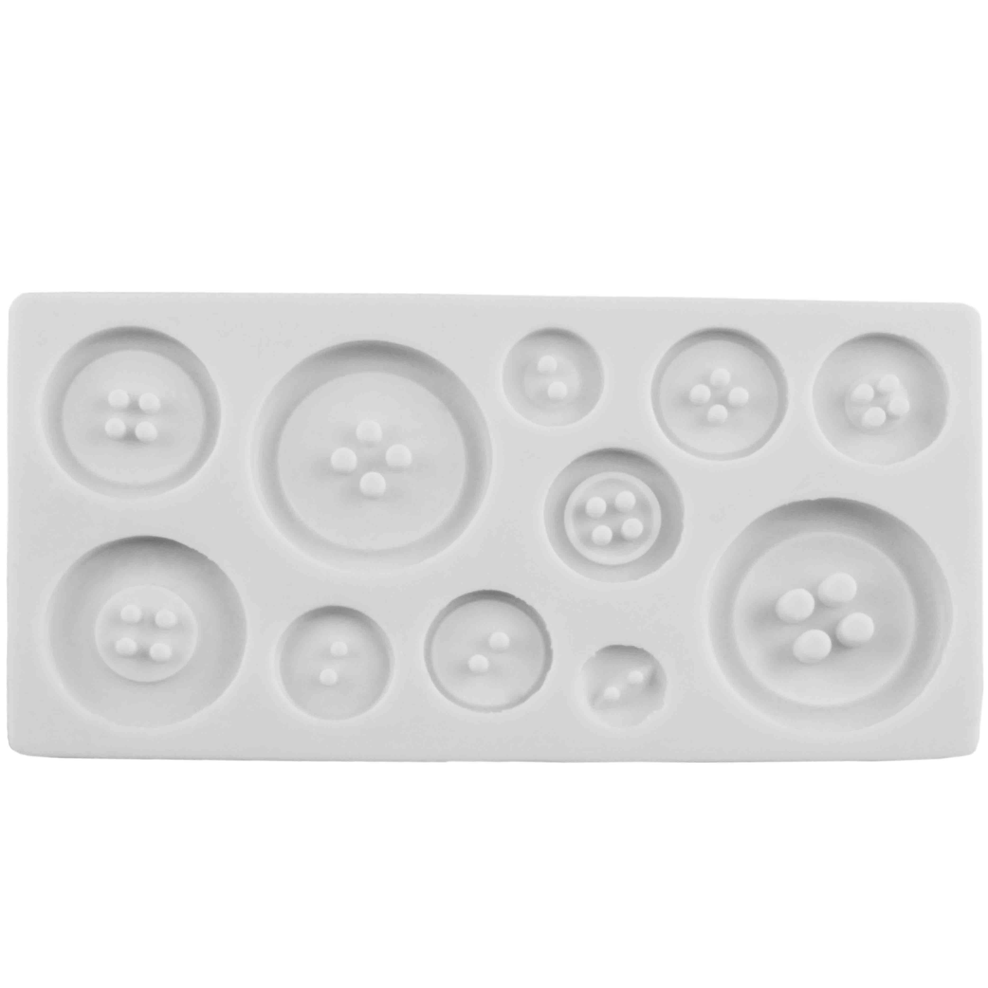 Plain Buttons Silicone Mold
