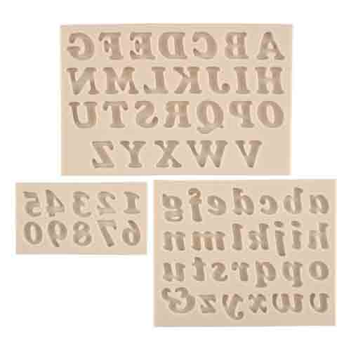 Small Alphabet & Numbers Silicone Mold Set
