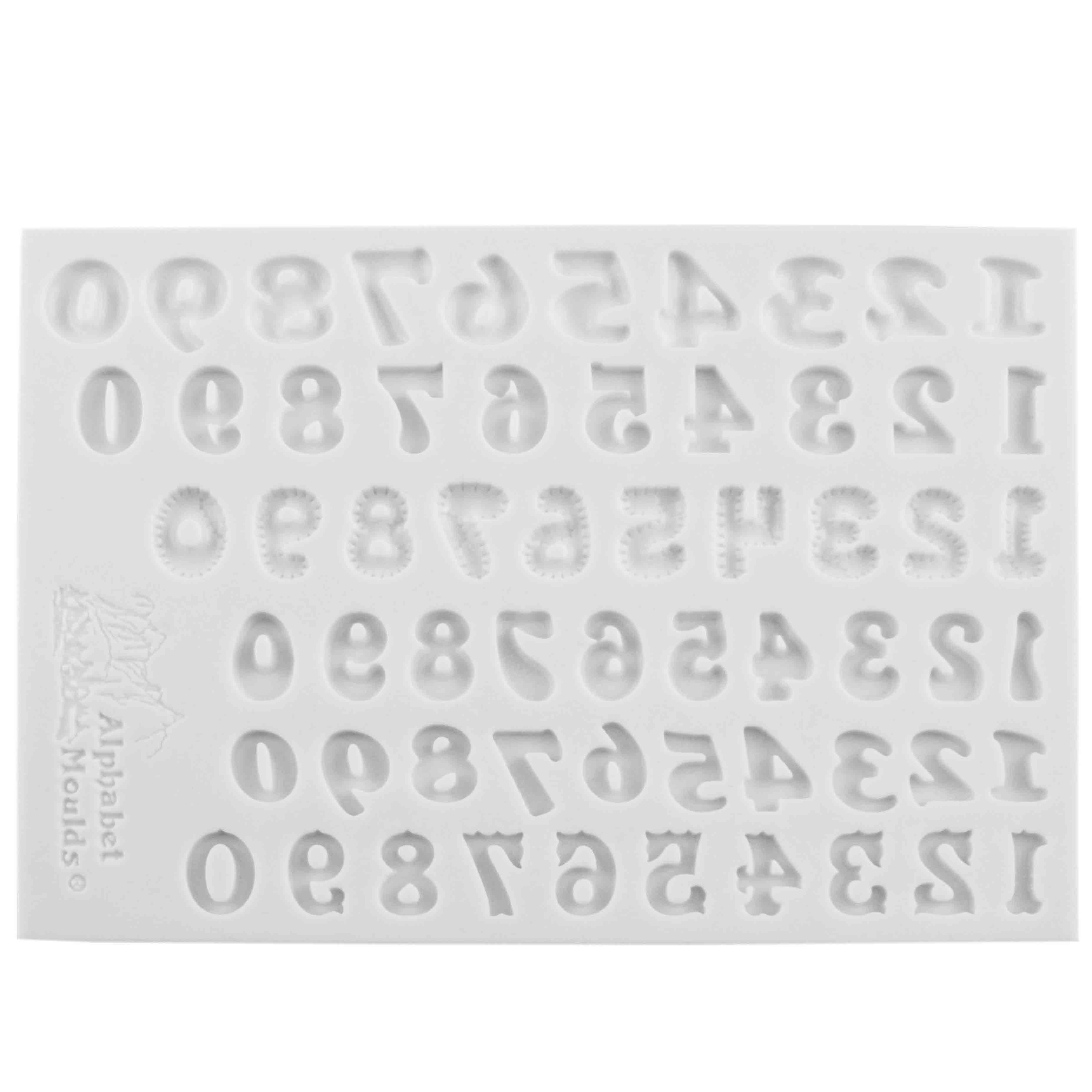 Number Sets Silicone Mold