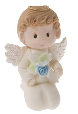 Christening Angel Praying- Boy Cake Topper