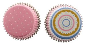 Pink Stripe & Dot Standard Baking Cups