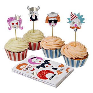 Make Funny Faces Cupcake Kit