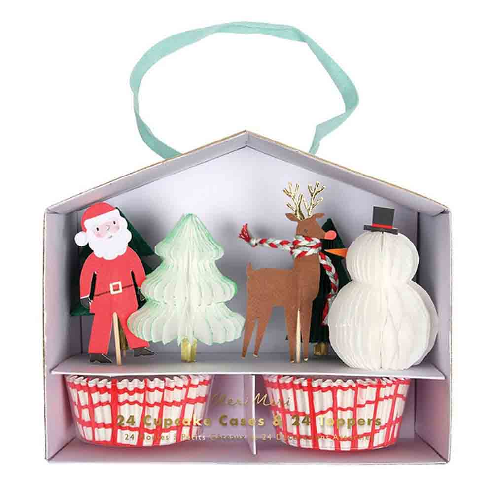Santa and Reindeer Cupcake Kit