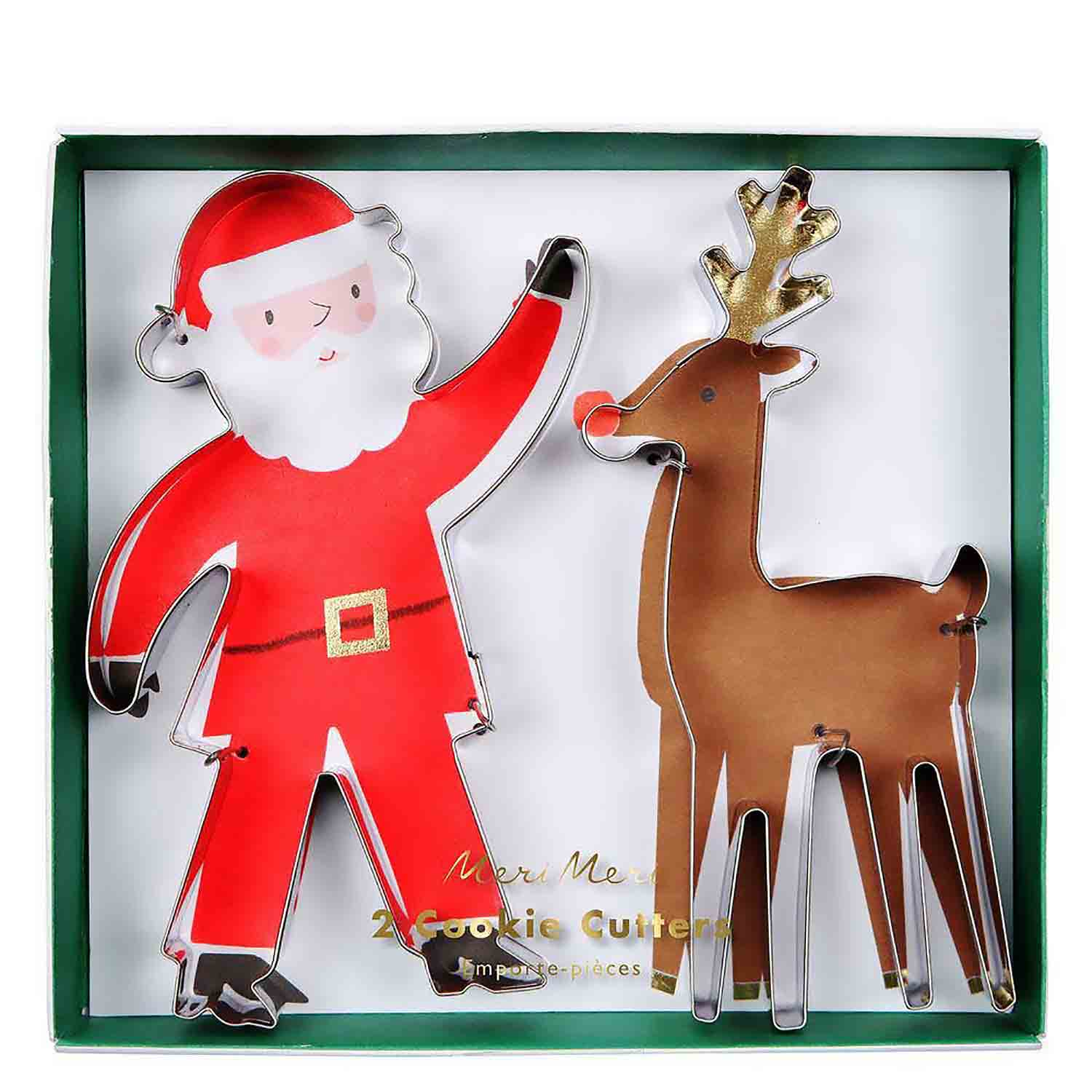 Santa and Reindeer Cookie Cutter Set