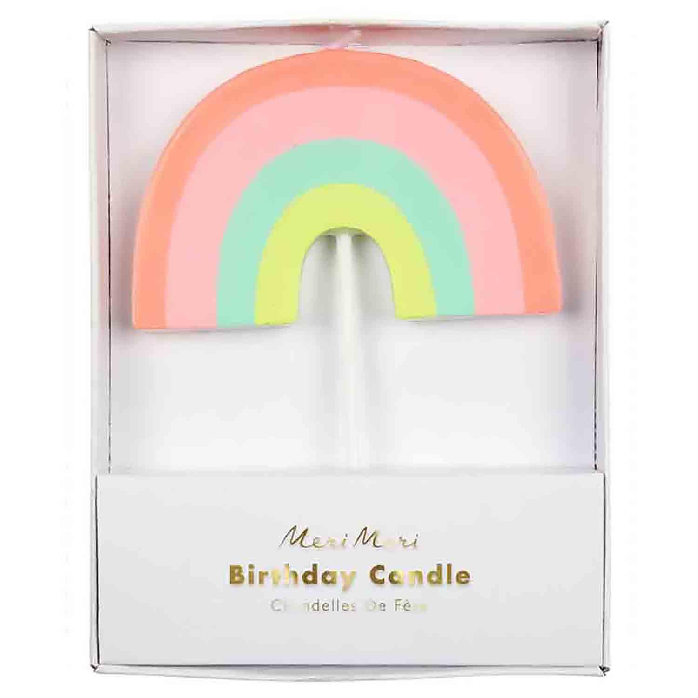 Large Rainbow Candle