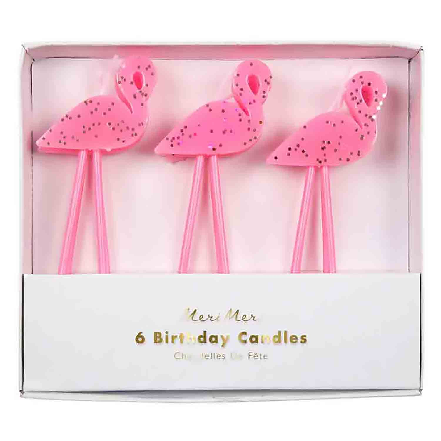 Flamingo Candles Set
