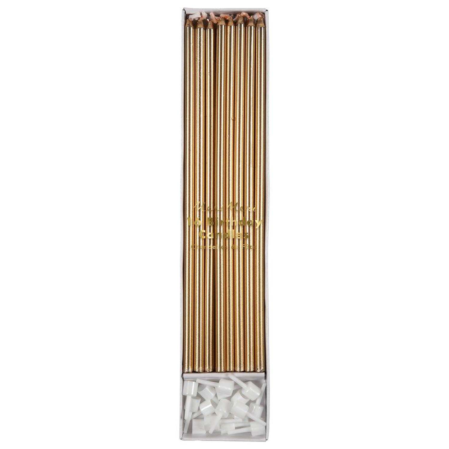 Metallic Gold Tall Party Candles