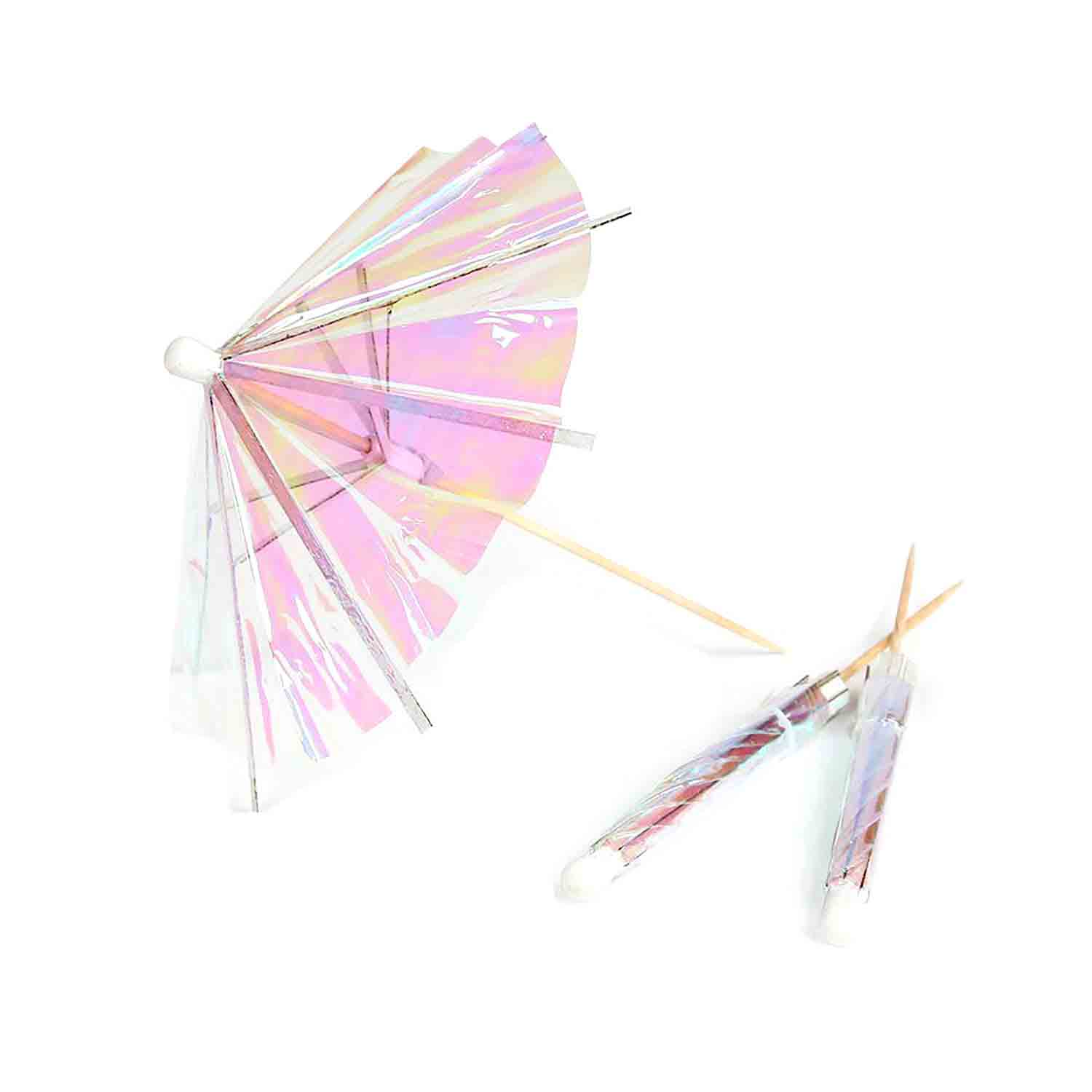 Iridescent Umbrella Picks