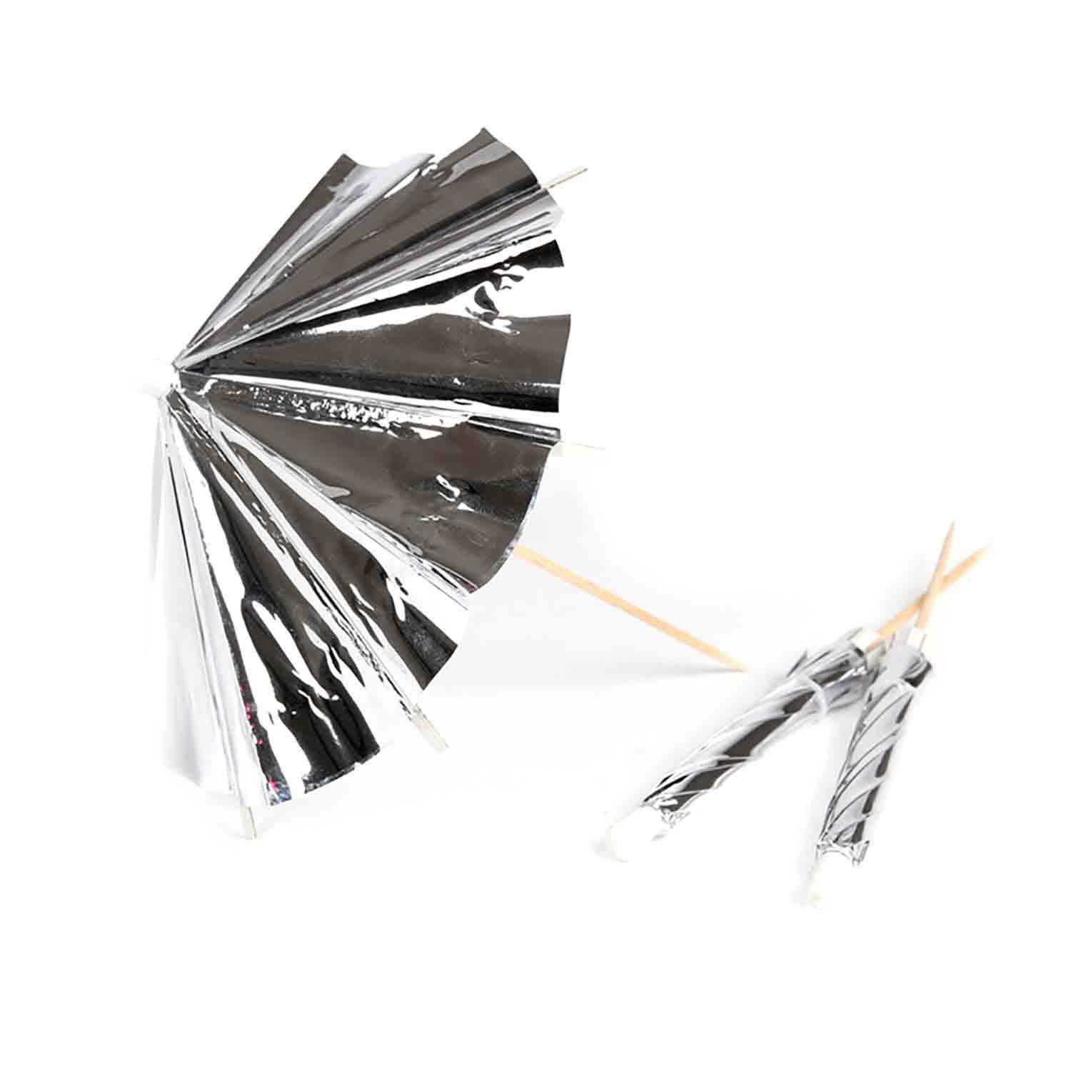 Silver Umbrella Picks