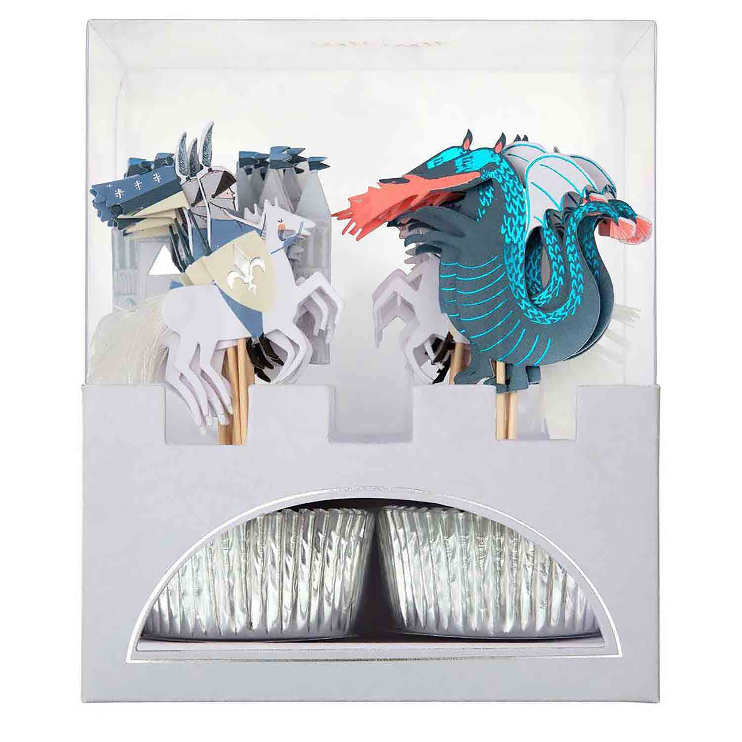 Dragons and Knights Cupcake Kit