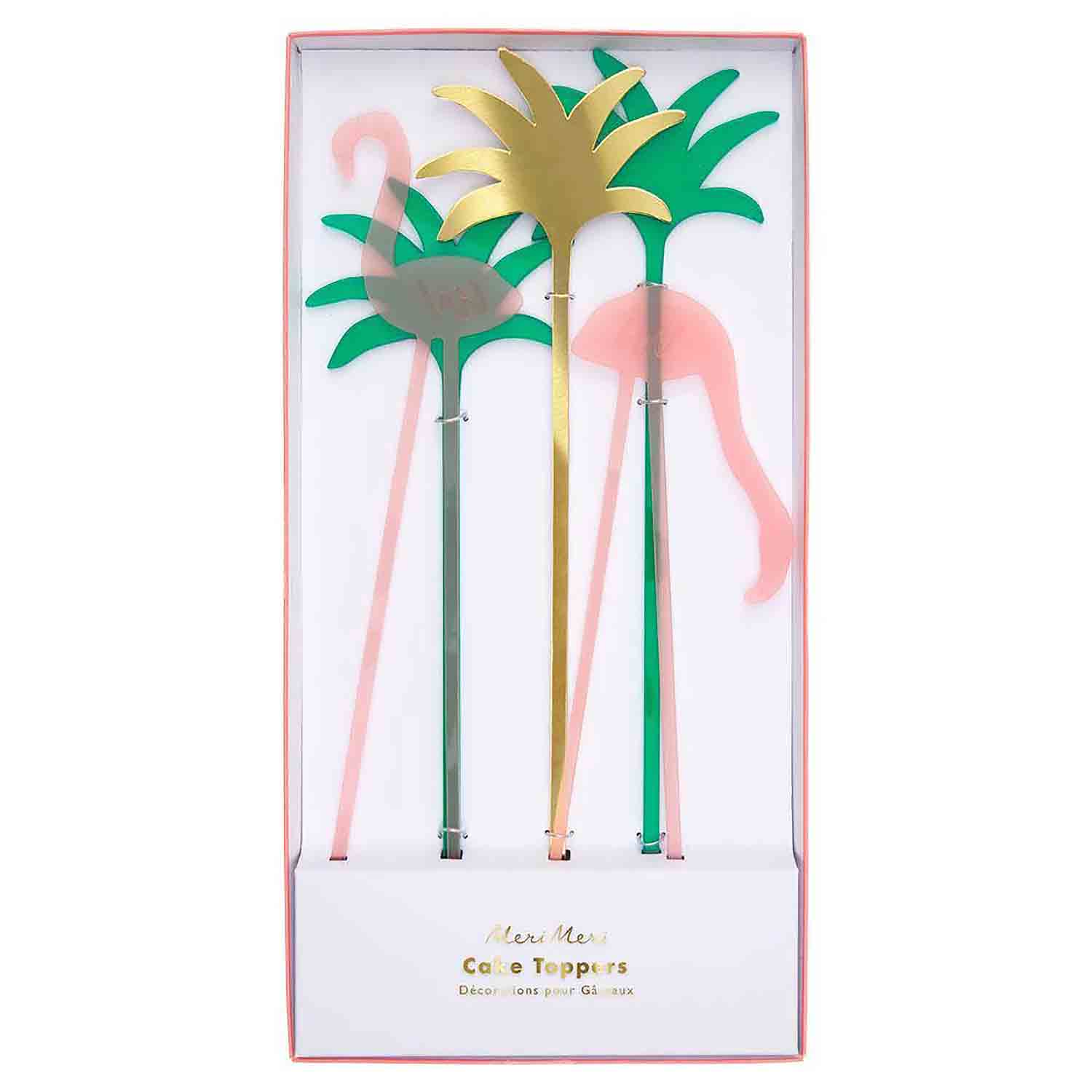 Flamingo Cake Topper Set
