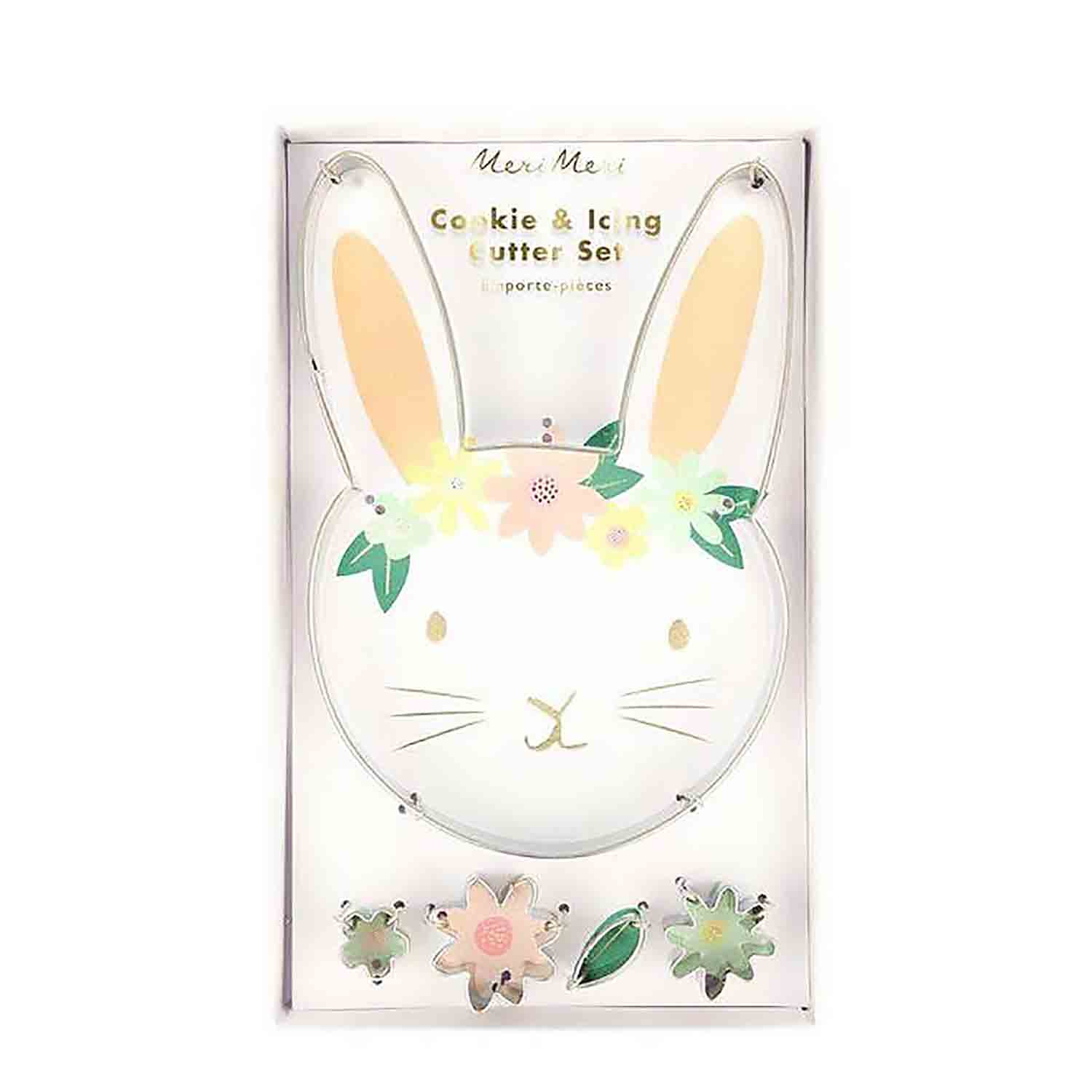 Floral Bunny Cookie Cutter Set