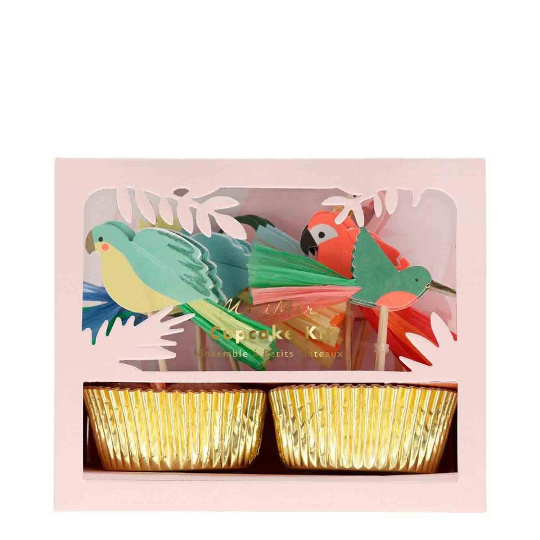 Tropical Birds Cupcake Kit
