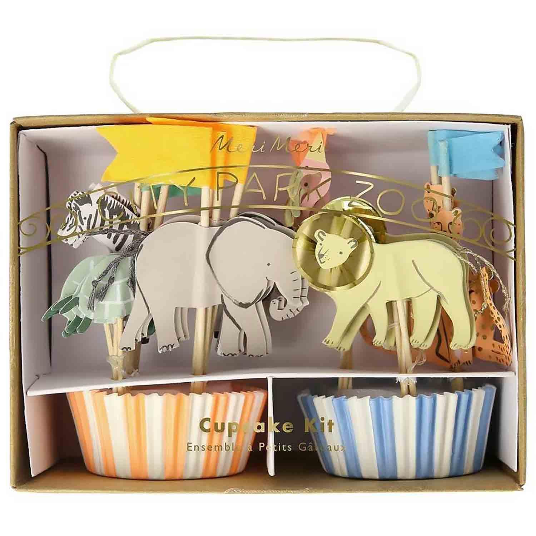 Safari Animals Cupcake Kit