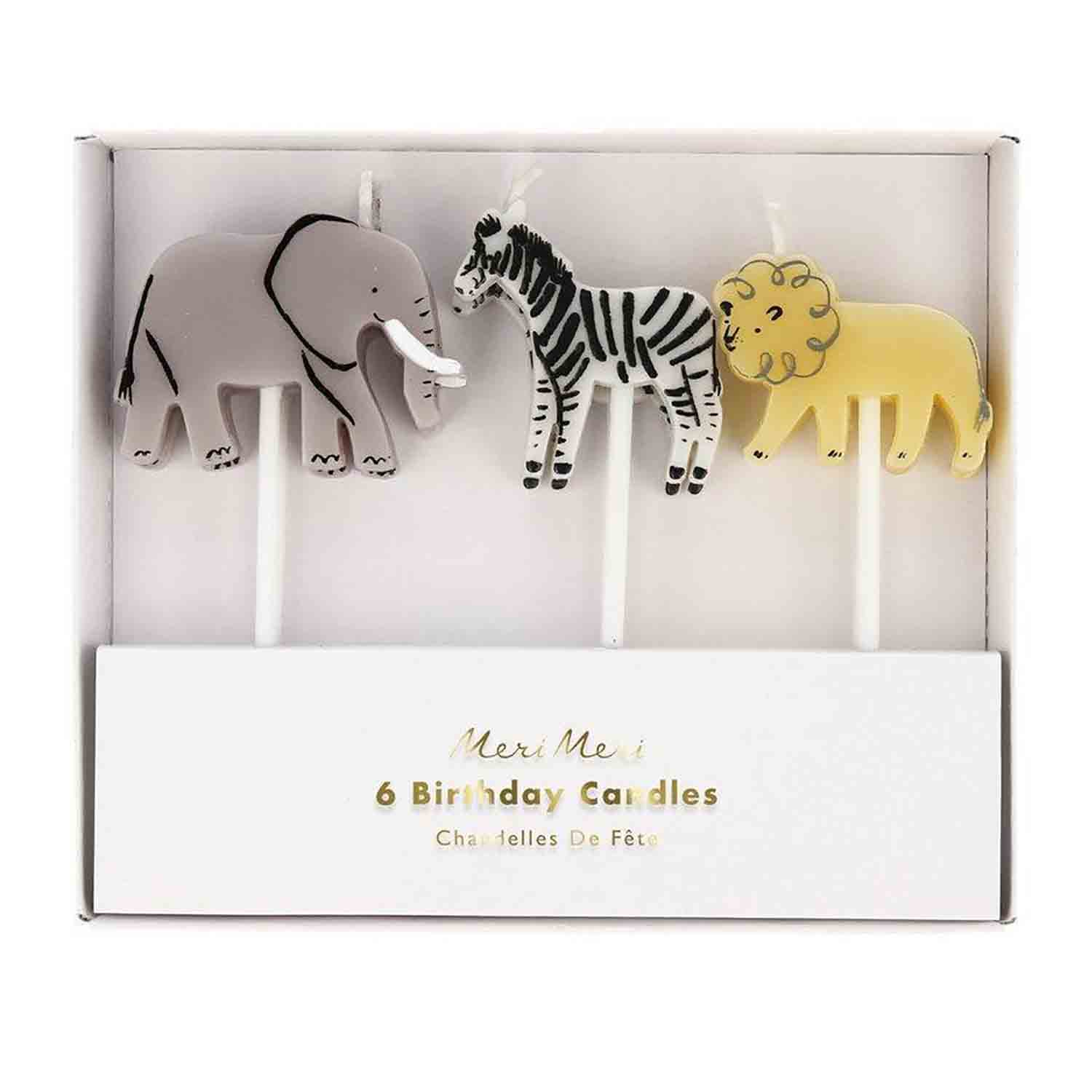 Safari Animals Candles Set