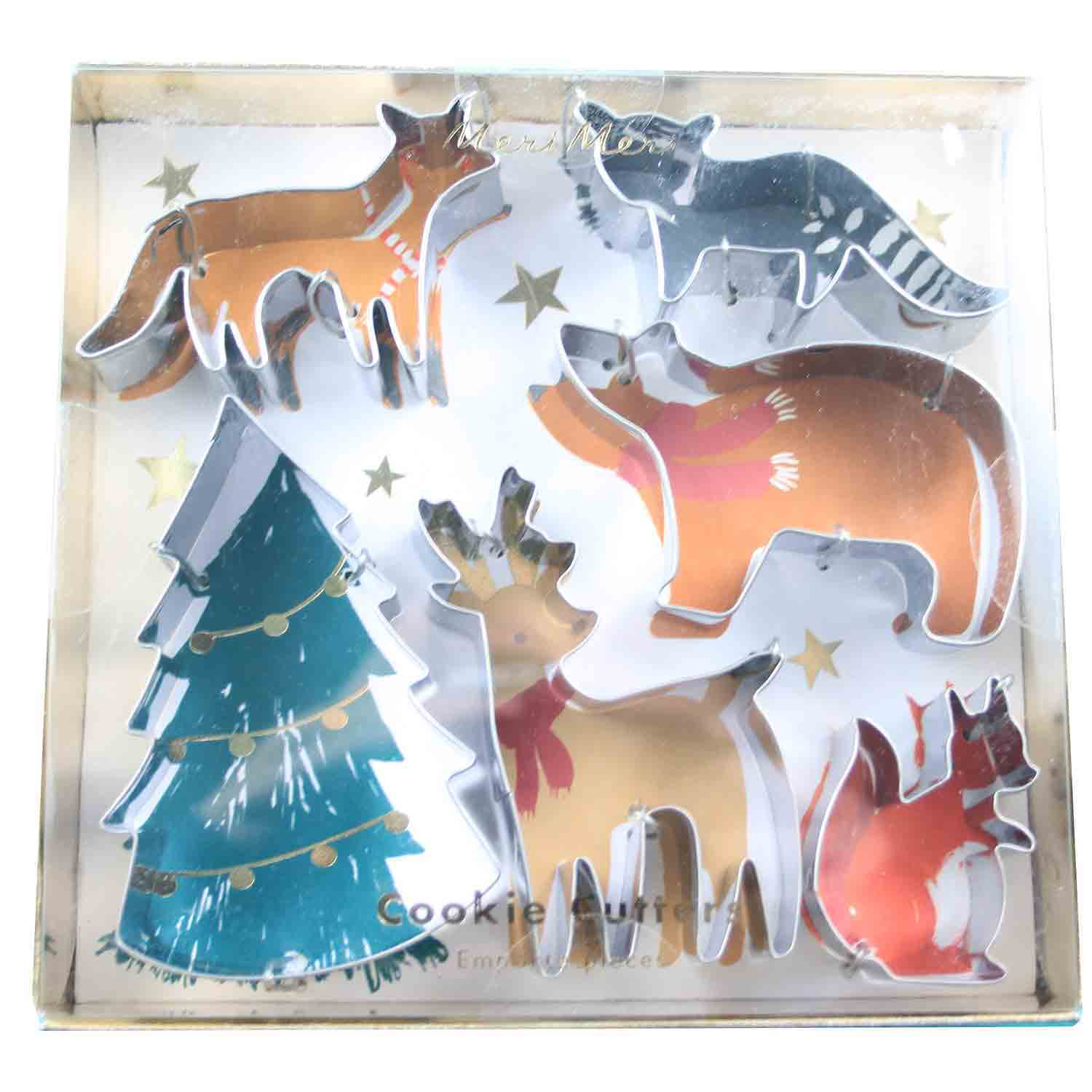 Woodland Christmas Cutter Set