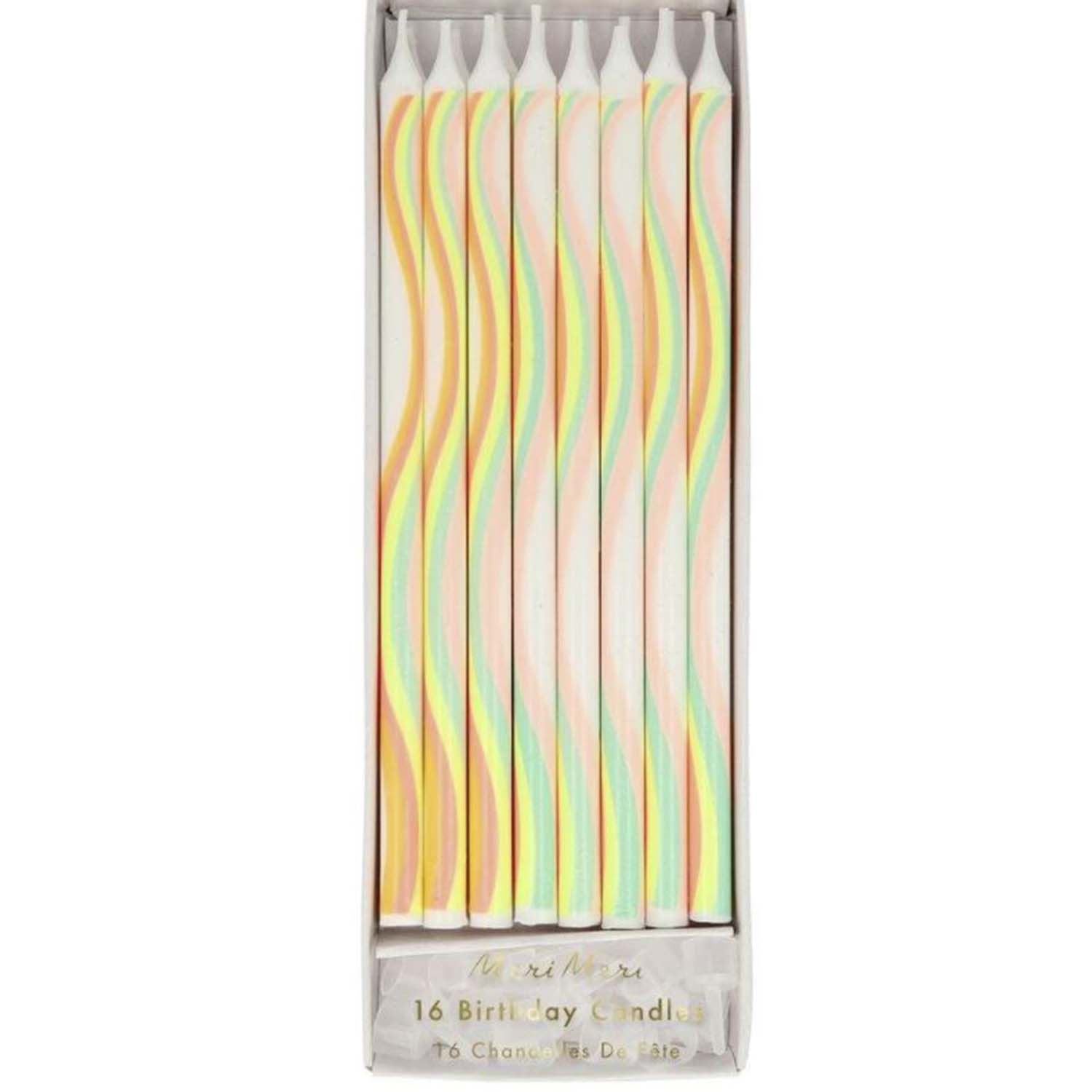 Rainbow Wave Tall Party Candles
