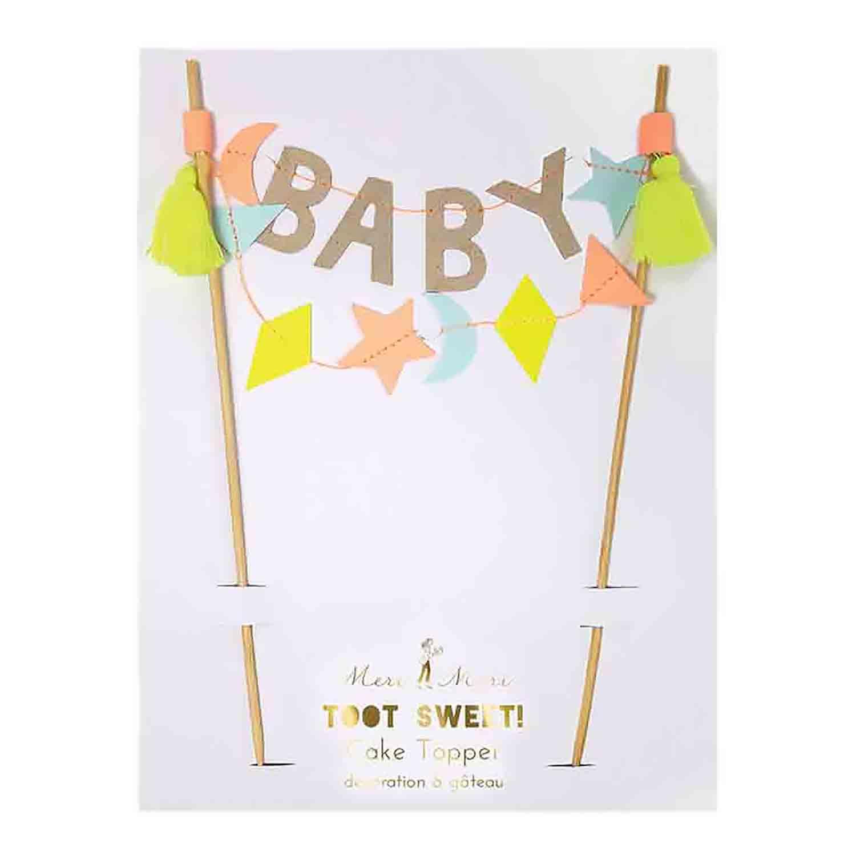 BABY Banner Cake Topper