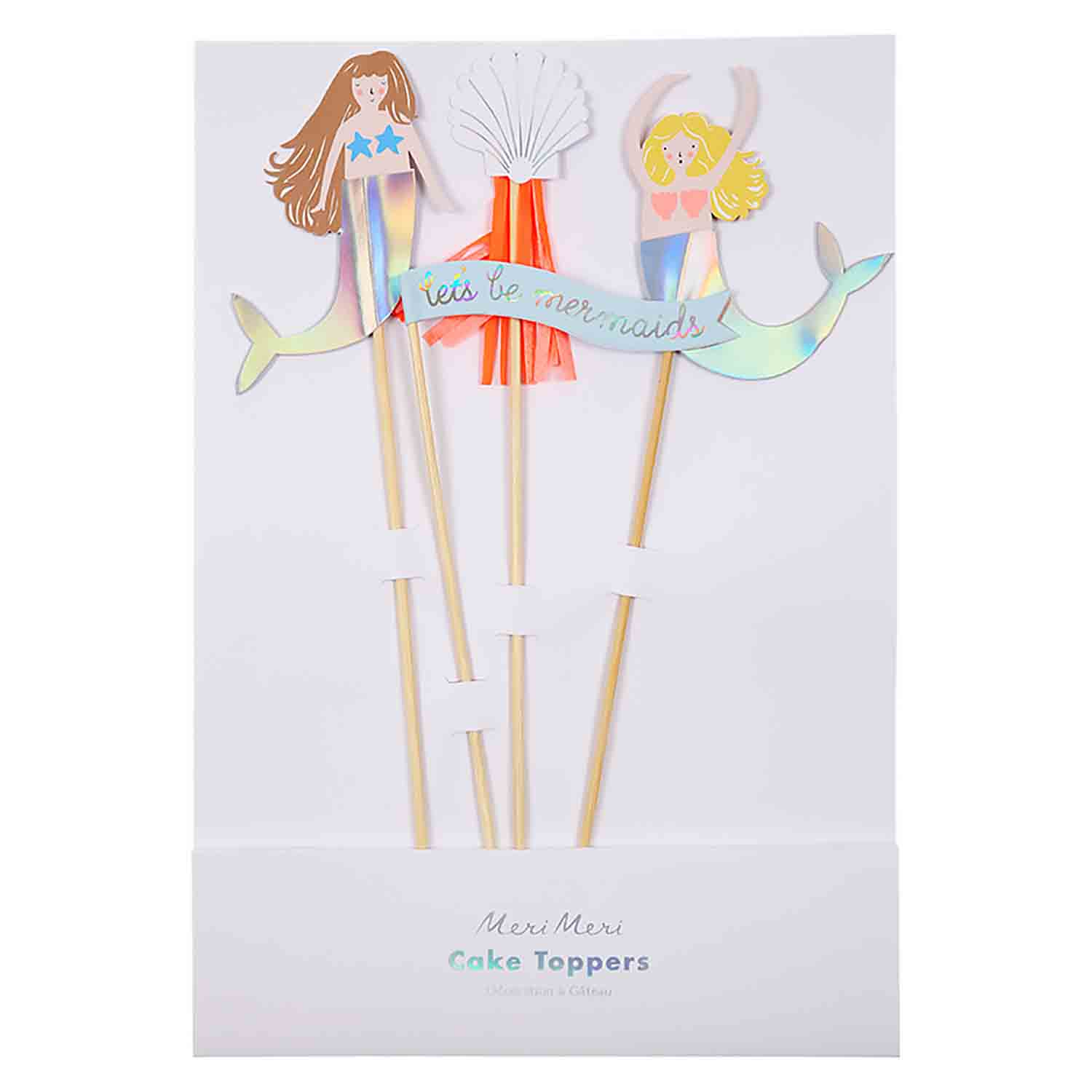 Mermaids Cake Topper Set