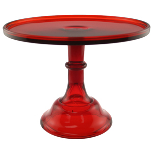 Cake Stand - Red 10""