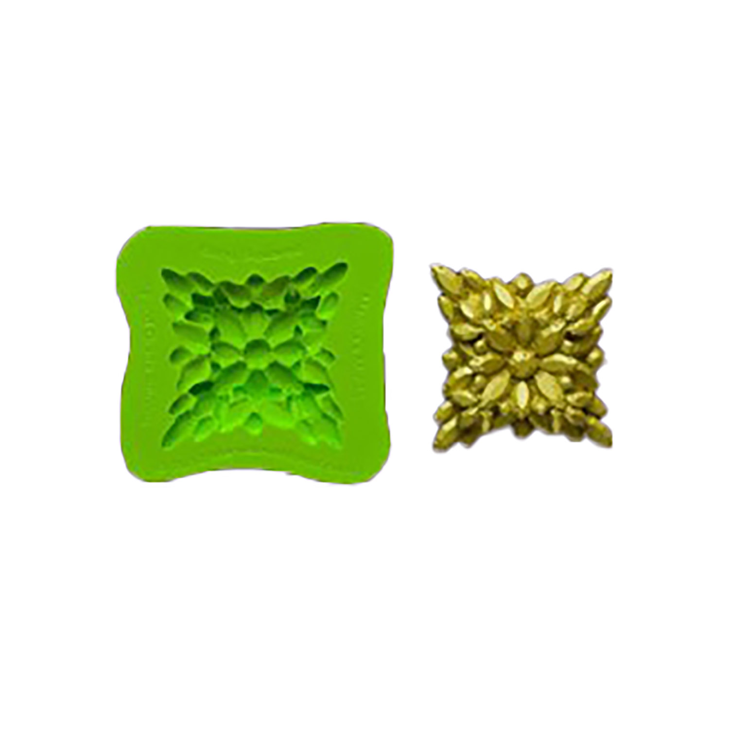 Bling Squared Silicone Brooch Mold