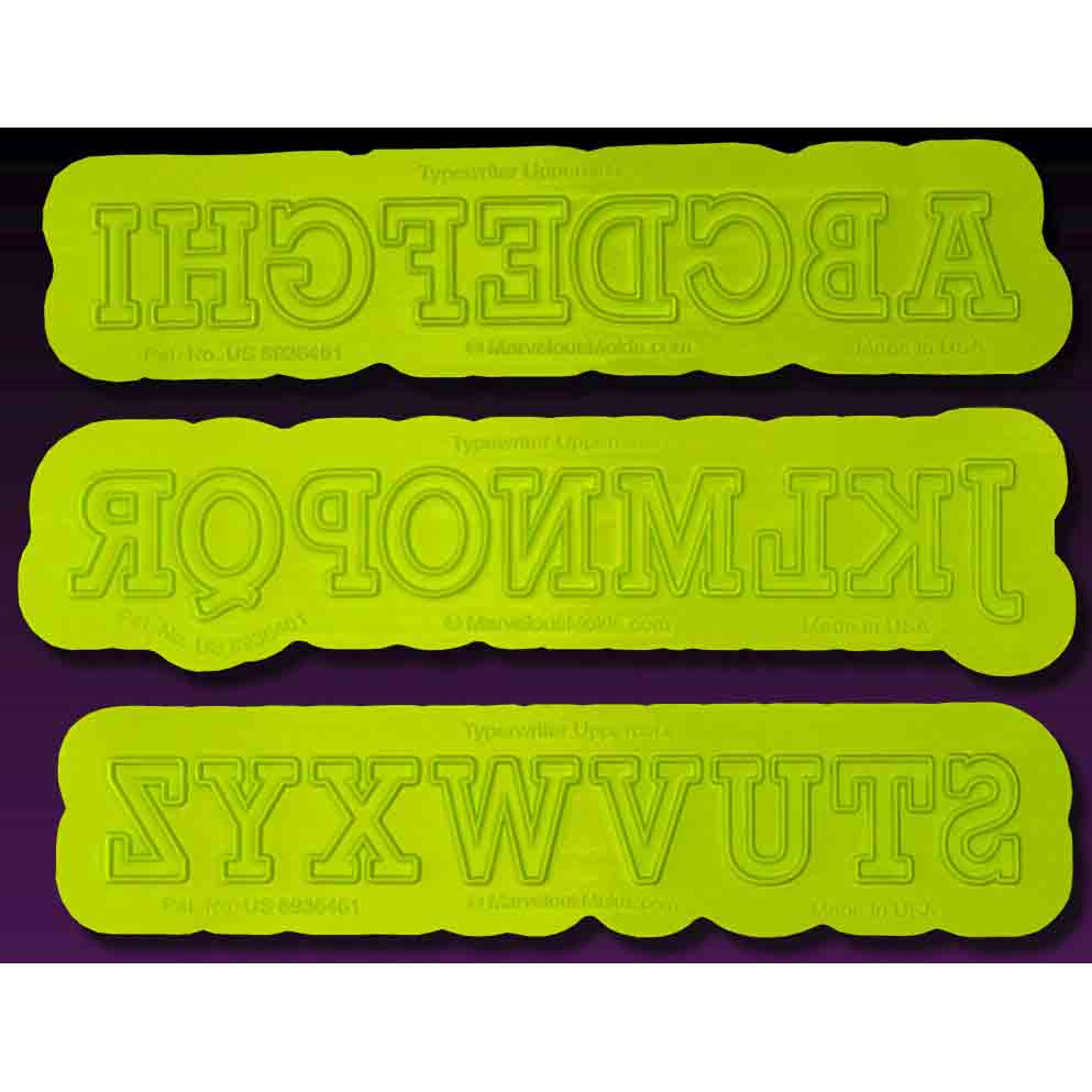 Typewriter Uppercase Flexabet™ Silicone Mold