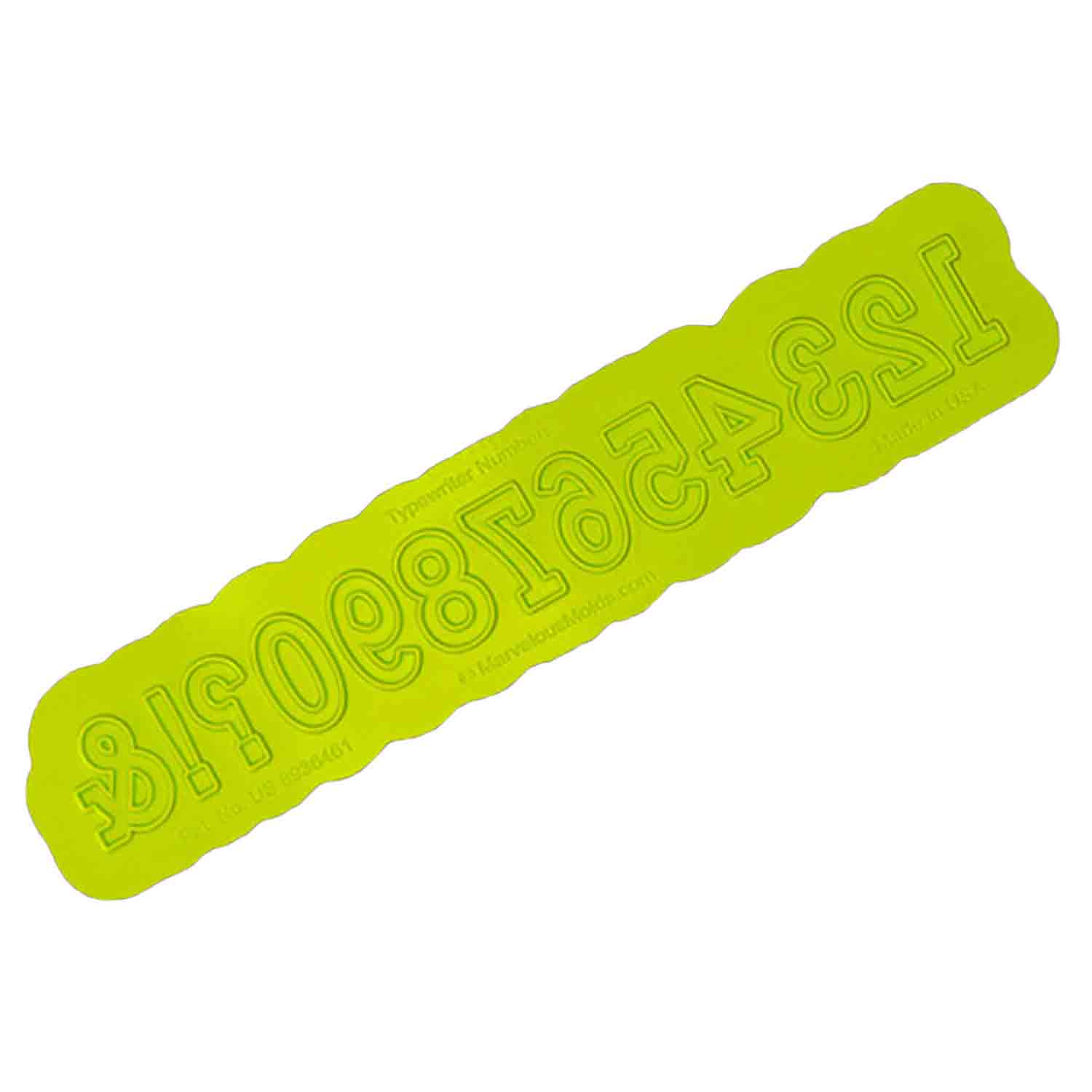Typewriter Numbers Flexabet™ Silicone Mold