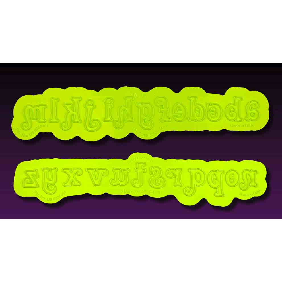Swirly Lowercase Flexabet™ Silicone Mold