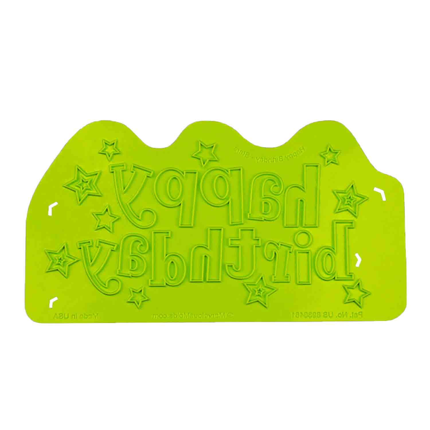 Happy Birthday Stars Silicone Onlay Mold
