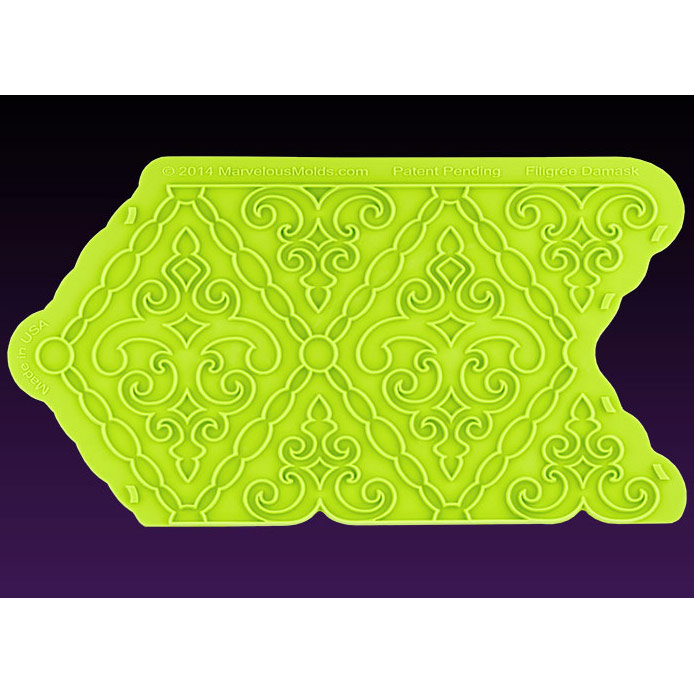 Filigree Damask Silicone Onlay Mold