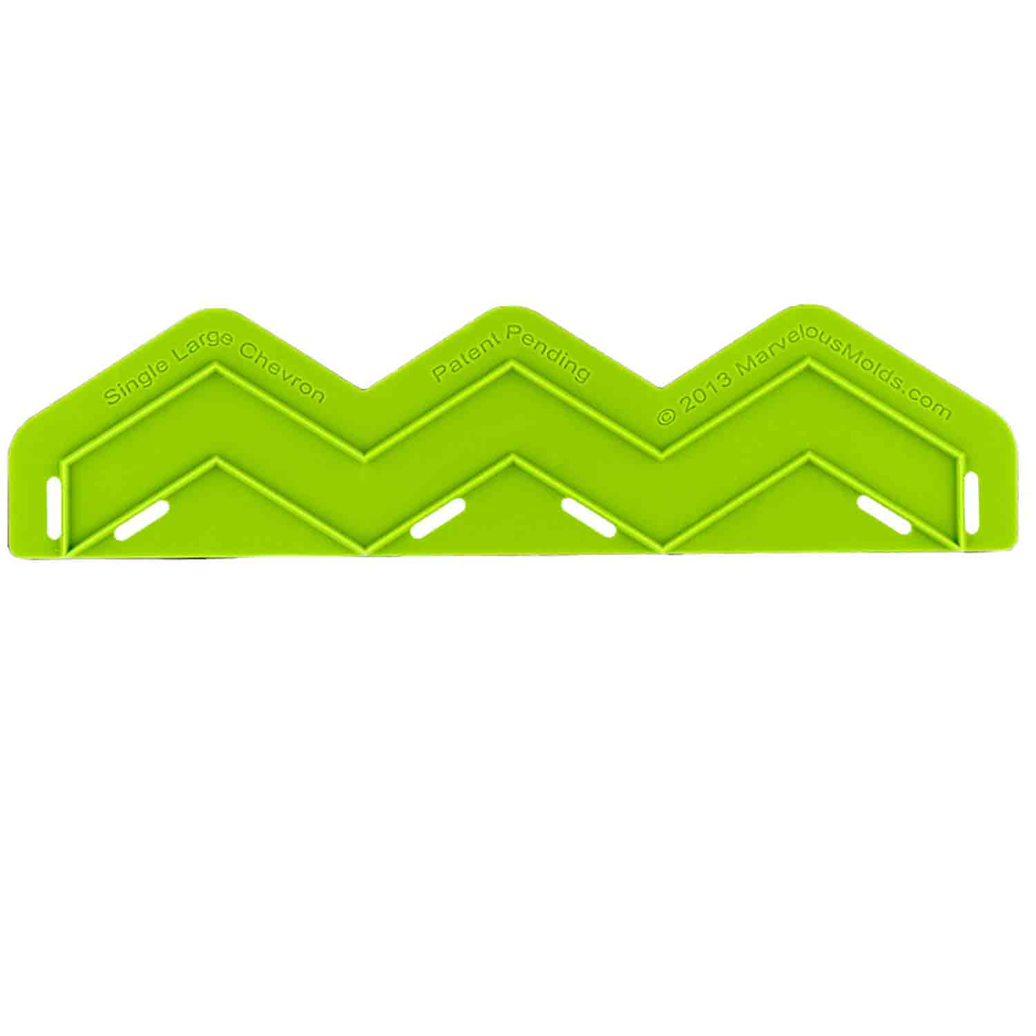 Large Single Chevron Silicone Onlay Mold